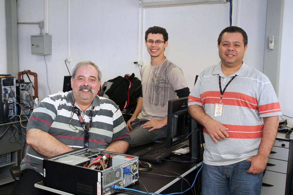 Coordenadoria de Suporte a Tecnologias. Na foto, da esquerda para a direita: Antônio Carlos Correia Saraiva, Fábio Pereira Guimarães e Marcos Ribeiro Soares. Foto: Jose Cordeiro/ SPTuris