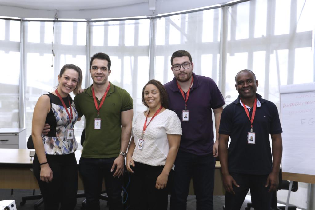 Funcionários – São Paulo (SP) – 14.10.2016 – Geral – Integração de novos funcionários. Local: Sala de treinamentos da GRH. Foto: Jose Cordeiro/SPTuris